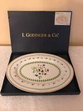"Godinger Petite Fleur 14"" Oval Platter With Box"