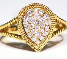 Designer 14K Gold Natural Diamond .45CT Anniversary Engagement Rope Ring Vintage