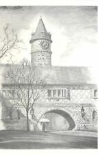 Glenside PA~Murphy Memorial Hall Ruth Higgins Clock Tower~Beaver College~Artist