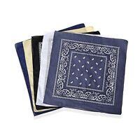 100% Cotton Multi Color Paisley Print Pattern Set of 5 Bandana Durable Print