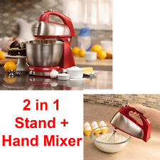 Classic Stand Mixer 6 Speed Kitchen Countertop Cooking 2 in1 Cake Hamilton Beach