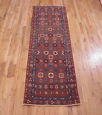 Antique Persian Heriz Oriental Rug, in Runner size, 9'0 x 2'6, w/ FREE SHIPPING!