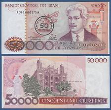 BRASILIEN / BRAZIL 50 Cruzados auf 50000 Cruzeiros (1986)  UNC P.207