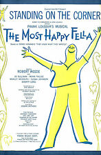 "Frank Loesser ""MOST HAPPY FELLA"" Robert Weede / Morley Meredith 1956 Sheet Music"