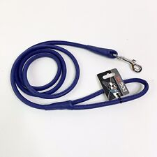 Dog Line L202-9 Purple Round Leather Leash