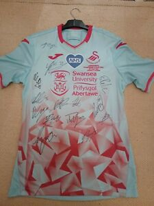 SIGNED Swansea City Play Off Final Shirt 2020/21
