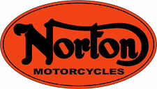 NORTON OVAL MOTORCYCLES VINYL DECAL -SET OF 2