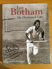 2007 Signed twice x Ian Botham book titled My Illustrated Life 1st edition vgc