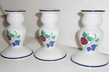 Princess House Exclusive ORCHARD MEDLEY  3 Taper Candle Stick Holders