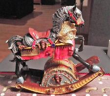 Spiel Uhr Karusell Pferd Musik bemalt H.20cm Nostalgie Geschenk vintage Dekor.
