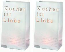 """Lichttüte und Stimmungslicht """"Kochen ist Liebe""""  2er Set - Räder Poesie et Table"""