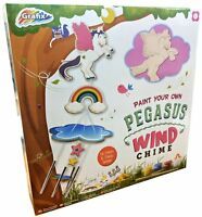 Grafix Make & Paint Your Own Wooden Pegasus Wind Chime Childrens Craft Kit