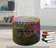 Indian Psychedelic 22'' Cushion Cover Boho Mandala Footstools Handmade Ottomans