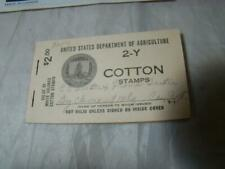 United States Dept. Agriculture 2-Y Cotton Stamps