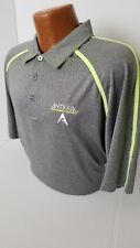 """Antigua TOUR ISSUED Polo """"PERFORMANCE APPAREL"""" TOUR PLAYERS Gray/Yellow Polo L"""