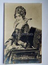 MARY PICKFORD attrice cinema muto silent film vecchia cartolina old postcard 1
