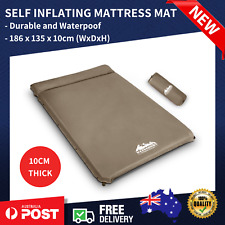 WEISSHORN Double Self inflating Mattress Mat Sleeping Air Bed Camping 10CM Coffe