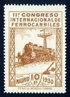 ★★ EDIFIL 481 - 10 Pts. CONGRESO INT. DE FERROCARRILES + CERTIF. SORO (+700€)★★