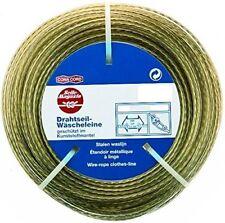 30m Galvanised Steel Wire Rope Washing Line PVC Coated Diameter 3.5mm