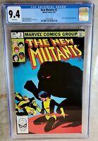 New Mutants #3 1st Demon Bear -  Marvel 1983 CGC 9.4 NM White Pages Comic J0070