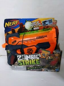 Nerf Zombie Strike Fusefire Blaster NO DISCS INCLUDED Toy in Original Box