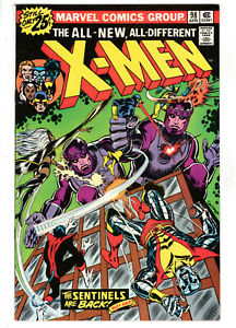 UNCANNY X-MEN #98 (1976) - GRADE 7.0 - CHRISTMAS ISSUE - FEATURING SENTINELS!