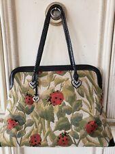 Brighton Alyssa Ladybug Handbag Tapestry Weekender Tote Bag *Excellent Cond*
