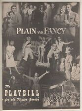 "Barbara Cook  ""Plain And Fancy""  Playbill  1955  Broadway  Shirl Conway"