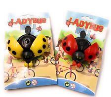 Campana de la Bicicleta Mariquita Pack Doble Amarillo y Rojo