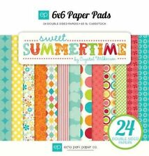 "ECHO PARK ""SWEET SUMMERTIME"" 6X6 PAPER PAD SPRING SUMMER SCRAPJACK'S PLACE"