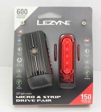 Lezyne Micro Drive 600XL / Strip Drive Pair LED Cycle Lights - Black