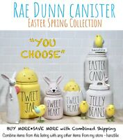 "Rae Dunn Canister Easter Spring Collection🐰JELLY BEANS PEEPS🐣 ""U CHOOSE""NEW'21"