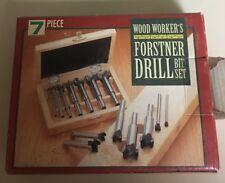 Wood Worker's Forstner Drill Bit Set 7 Piece