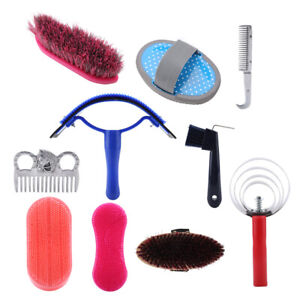Horse Grooming Kit 10Pcs Horse Grooming Care Kit Equestrain Brush Curry Comb