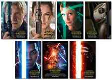 STAR WARS EPISODE VII THE FORCE AWAKENS MOVIE 7 POSTER PROMO SET