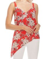 Vince Camuto Womens Blouse Size Medium M Floral Print Asymmetrical-Hem $79 360