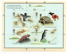 GB 2009 Darwin Galapagos Islands unmounted mini / miniature sheet MNH stamps