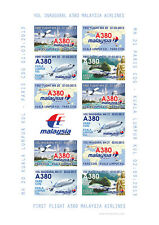 "VIGNETTE AERIENNE ND ""A380 Malaysia Airlines - 1er Vol Kuala Lumpur-Paris"" 2013"