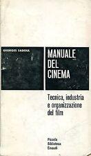 Georges Sadoul = MANUALE DEL CINEMA