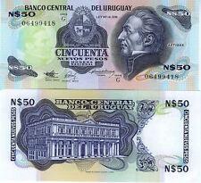 URUGUAY billet neuf  50 PESOS Pick61a  portait de J.G.ARTIGAS vieux PALAIS 1989