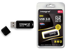 Fast - SuperSpeed 64GB USB 3.0 Flash Drive from Integral - Up To 80MB/s