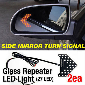 Side View Mirror Turn Signal Glass Repeater LED Module Sequential For NISSAN Car