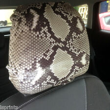 CAR SEAT HEAD REST COVER 2 PACK SNAKE PRINT DESIGN MADE IN YORKSHIRE