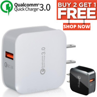 QC 3.0 USB Fast Quick Wall Charger Adapter US Plug For Apple iPad iPhone Samsung