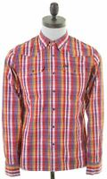 LEE Mens Shirt Small Multicoloured Check Cotton  LA05