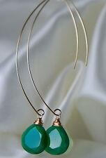 Handgefertigt Echter Edelsteine-Ohrschmuck mit Onyx und Durchzieher