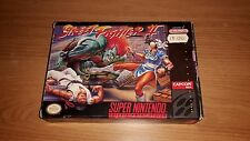 Street Fighter 2 - II - Nintendo SNES Game - Boxed with Instruction Manual