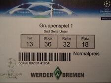 TICKET UEFA CL 2008/09 Werder Bremen - Anorthosis Famagusta