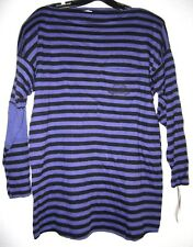 LEGENDS MATERNITY Purple Stripe Knit Boat Neck Tunic L/S Tee T Top Shirt S NWT