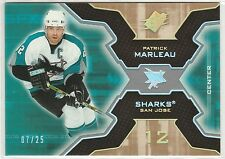 2006-07 SPx Spectrum #84 Patrick Marleau 7/25 San Jose Sharks